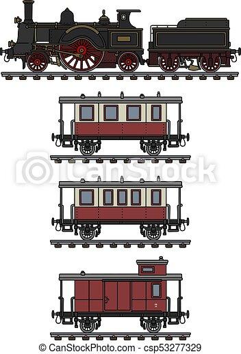 Vintage steam train - csp53277329