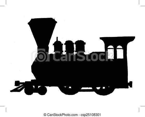 vintage steam train - csp25108301