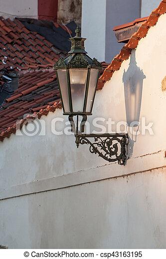 vintage street lamp - csp43163195