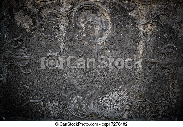 Vintage stucco decoration on a wall - csp17278482