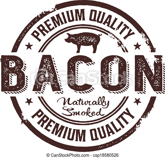 Vintage Style Bacon Stamp - csp18580526