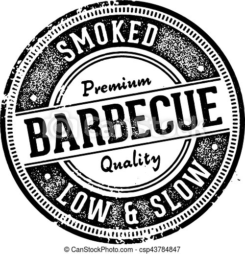 Vintage Style Barbecue BBQ Restaurant Sign - csp43784847