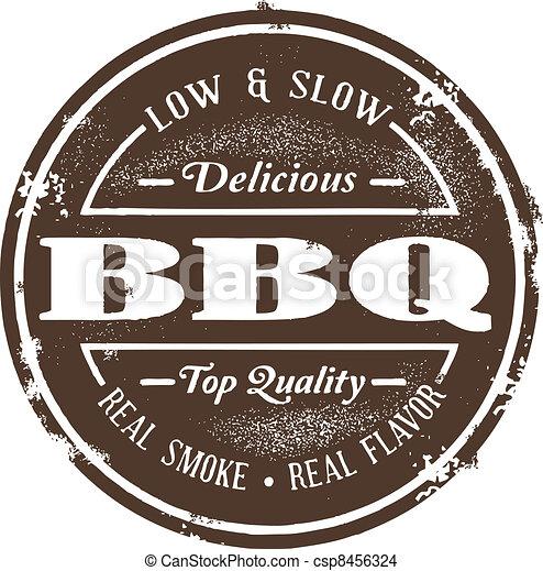 Vintage Style BBQ Stamp - csp8456324