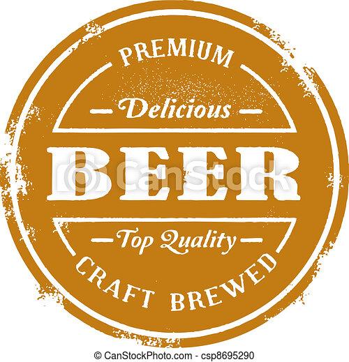 Vintage Style Beer Stamp - csp8695290