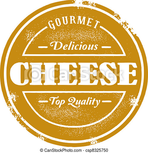Vintage Style Cheese Stamp - csp8325750