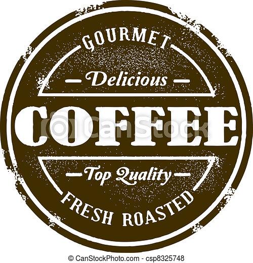 Vintage Style Coffee Shop Stamp - csp8325748