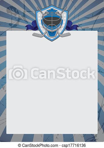 Vintage Style Hockey Background