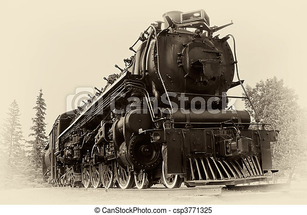 Vintage Style Photo of Steam Train - csp3771325