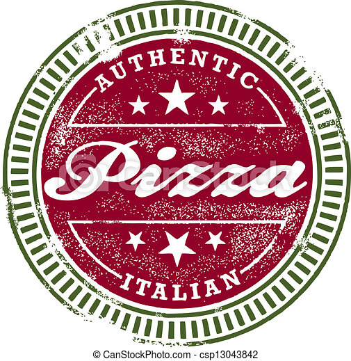 Vintage Style Pizza Stamp - csp13043842