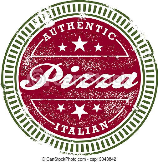 Vintage Style Pizza Stamp - csp13043842
