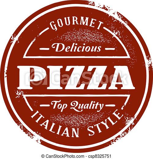 Vintage Style Pizza Stamp - csp8325751