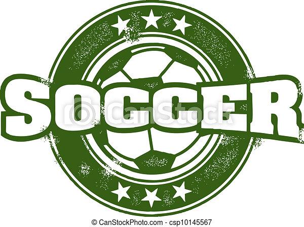 Vintage Style Soccer Team Stamp - csp10145567