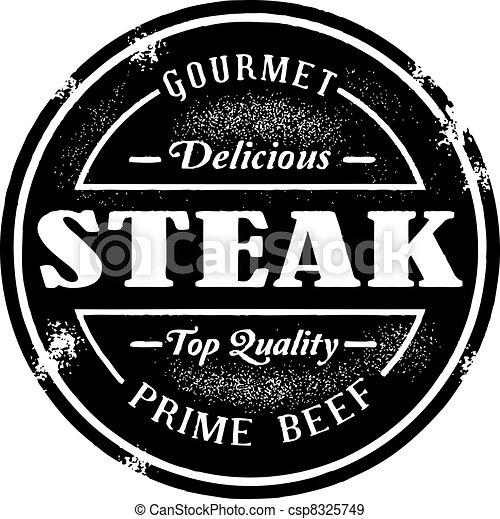 Vintage Style Steak Stamp - csp8325749