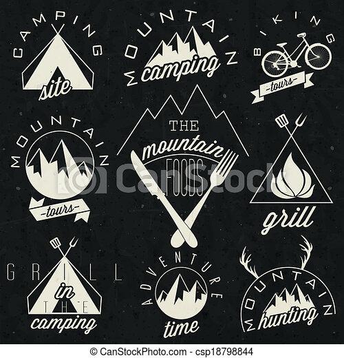 Vintage style symbols for Mountain - csp18798844