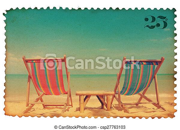 Vintage stylized postage stamp - csp27763103