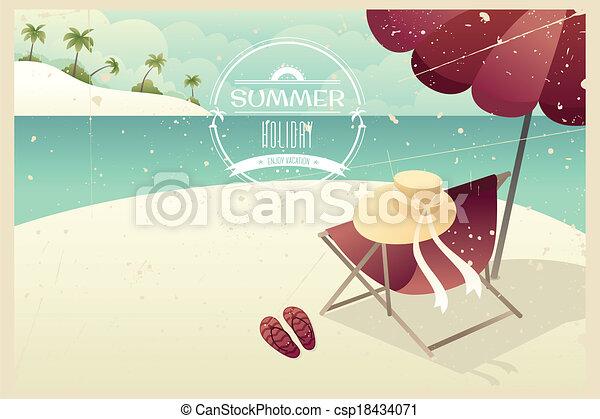 Vintage summer poster - csp18434071