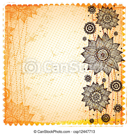 Beautiful Vintage Sunflower Background