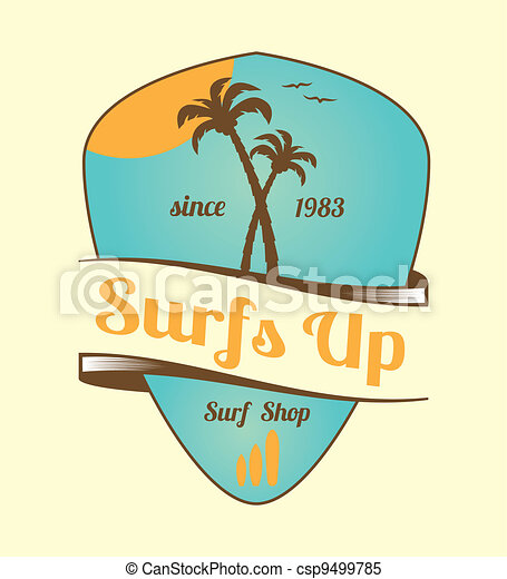 Vintage Surfs Up Emblem