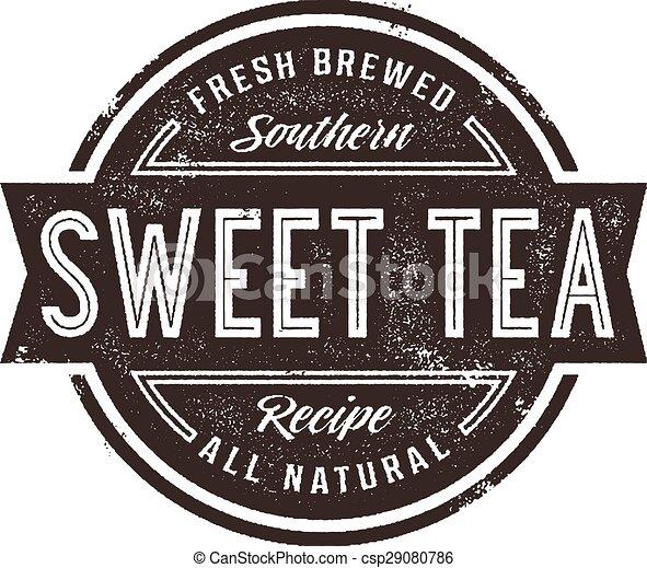 Vintage Sweet Tea Sign - csp29080786