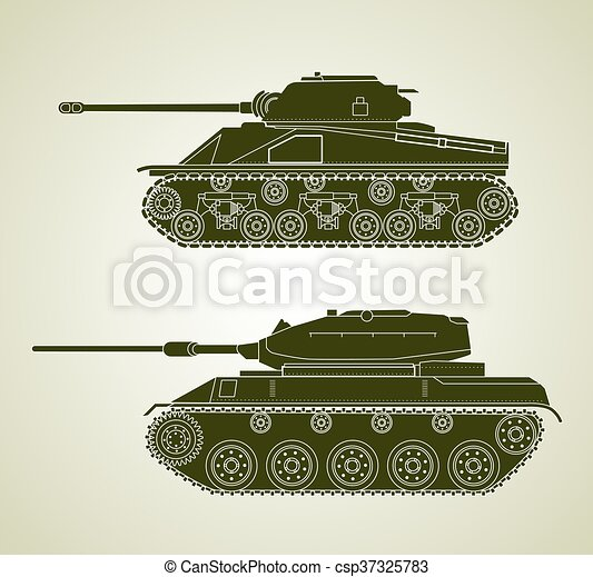 Vintage Tanks - csp37325783