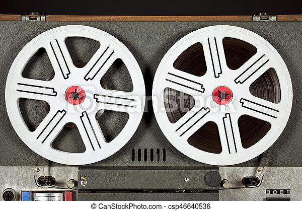 Vintage Tape Recorder - csp46640536