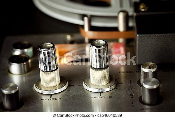 Vintage Tape Recorder - csp46640539
