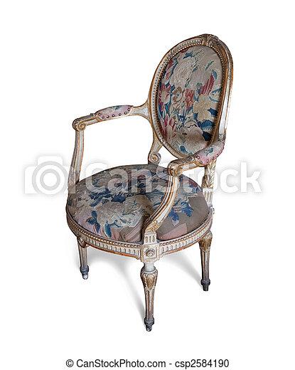 Vintage Tapestry Chair   Csp2584190