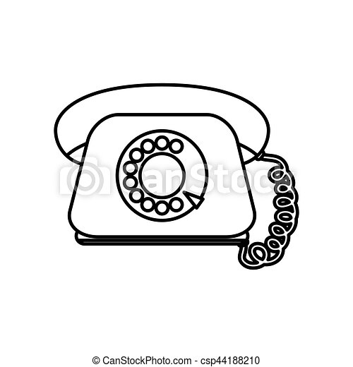 Vintage Telephone Communication Icon Vector Illustration