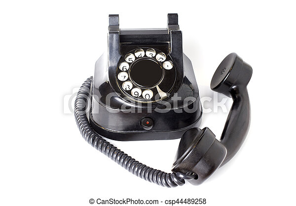 Vintage telephone on white background - csp44489258