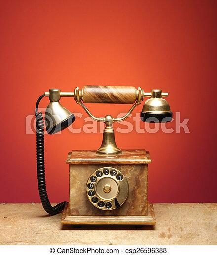 Vintage telephone - csp26596388