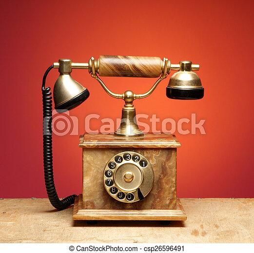 Vintage telephone - csp26596491
