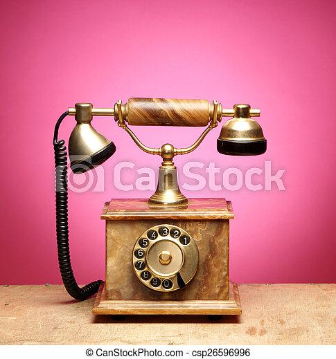 Vintage telephone - csp26596996
