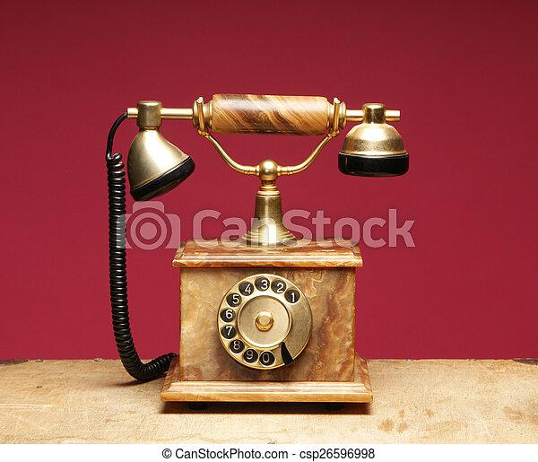 Vintage telephone - csp26596998