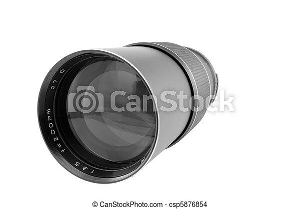 Vintage Telephoto Lens - csp5876854