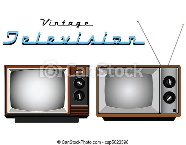Vintage Television Sets  - csp5023396