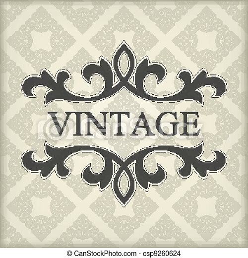 Vintage template with floral frame - csp9260624