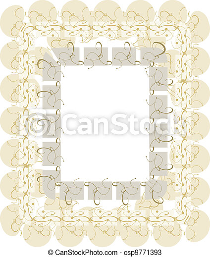 vintage template with floral retro frame - csp9771393
