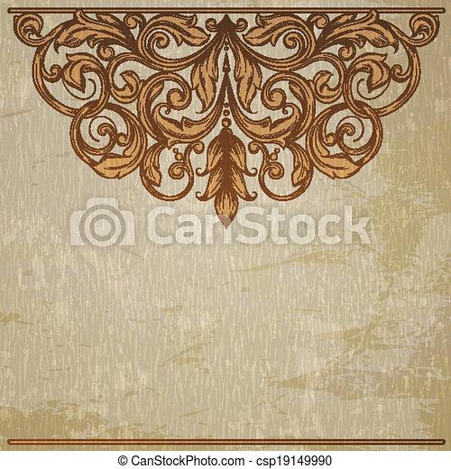vintage template with vintage elements - csp19149990