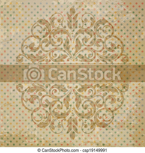 vintage template with vintage elements - csp19149991