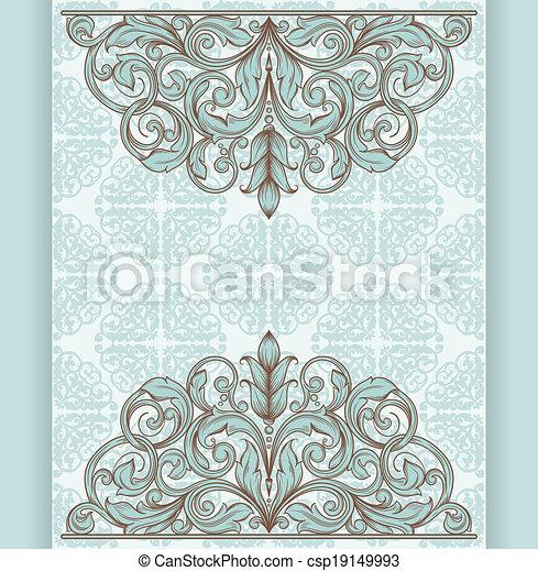 vintage template with vintage elements - csp19149993
