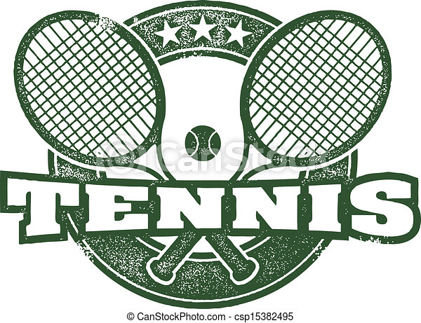 Vintage Tennis Vector Design - csp15382495