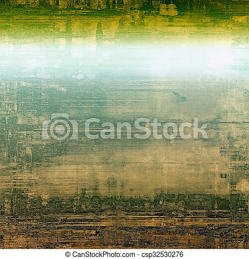 Vintage texture ideal for retro backgrounds. With different color patterns: yellow (beige); brown; blue; green - csp32530276