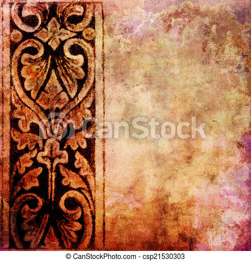Vintage texture with space for text or image - csp21530303