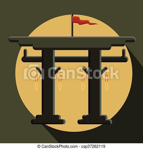 Vintage Torii Gate Vector - csp37262119