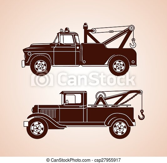 Vintage Tow Trucks - csp27955917