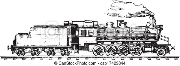 vintage train - csp17423844