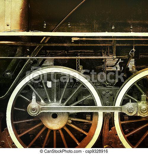 vintage train - csp9328916