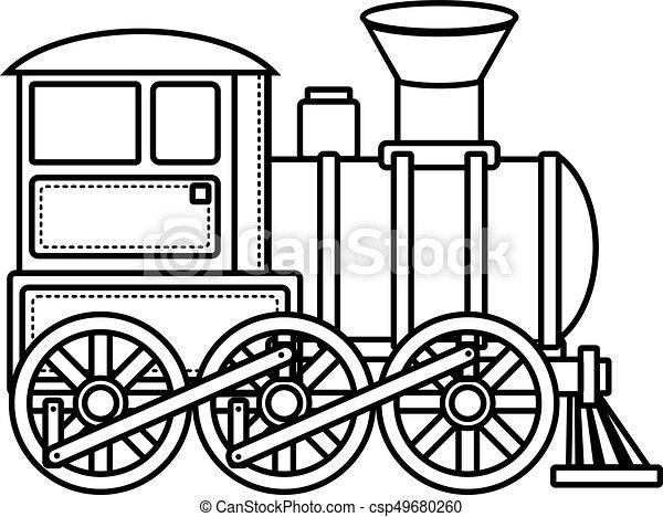 Vintage Train Children S Toy Christmas Decorations Vintage Train Vector Icon