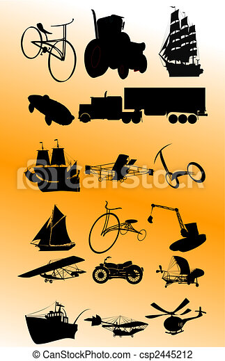 Vintage transportation set; vector - csp2445212