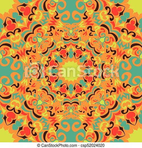vintage tribal seamless pattern vector illustration - csp52024020